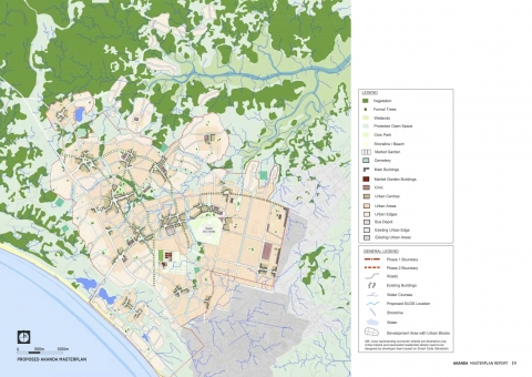 The Akanda Master Plan, Gabon, designed 2014 by the Prince's Foundation for Building Community with Steve Coyle